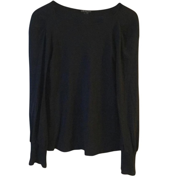 7112bcc31ad8af Theory Tops | Anisi Viscose Blend Black Long Sleeve Sz P | Poshmark
